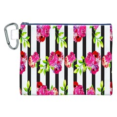 Flower Rose Canvas Cosmetic Bag (XXL)