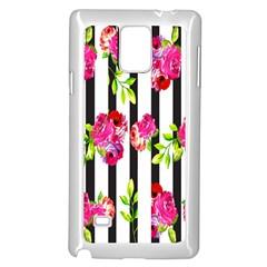Flower Rose Samsung Galaxy Note 4 Case (White)