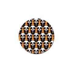 Halloween Night Cute Panda Orange Golf Ball Marker