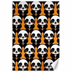 Halloween Night Cute Panda Orange Canvas 20  x 30