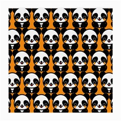 Halloween Night Cute Panda Orange Medium Glasses Cloth (2 Side)