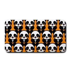 Halloween Night Cute Panda Orange Medium Bar Mats