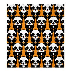 Halloween Night Cute Panda Orange Shower Curtain 66  x 72  (Large)