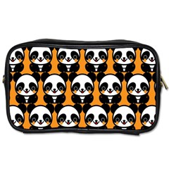 Halloween Night Cute Panda Orange Toiletries Bags 2-Side