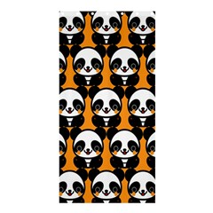 Halloween Night Cute Panda Orange Shower Curtain 36  x 72  (Stall)