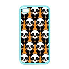 Halloween Night Cute Panda Orange Apple iPhone 4 Case (Color)
