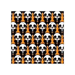 Halloween Night Cute Panda Orange Acrylic Tangram Puzzle (4  x 4 )