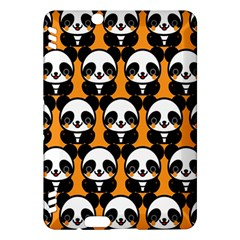 Halloween Night Cute Panda Orange Kindle Fire HDX Hardshell Case