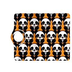 Halloween Night Cute Panda Orange Kindle Fire HDX 8.9  Flip 360 Case