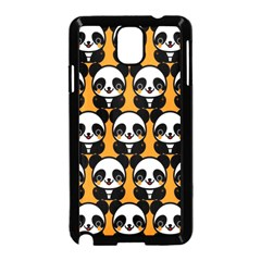 Halloween Night Cute Panda Orange Samsung Galaxy Note 3 Neo Hardshell Case (Black)