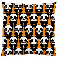 Halloween Night Cute Panda Orange Standard Flano Cushion Case (One Side)