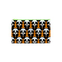 Halloween Night Cute Panda Orange Cosmetic Bag (XS)