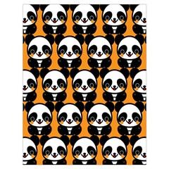 Halloween Night Cute Panda Orange Drawstring Bag (Large)