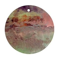 Sunrise Round Ornament (two Sides)