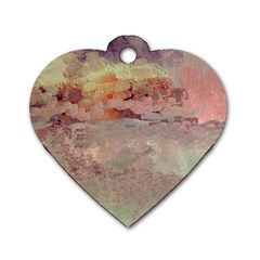 Sunrise Dog Tag Heart (Two Sides)