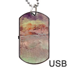 Sunrise Dog Tag USB Flash (One Side)