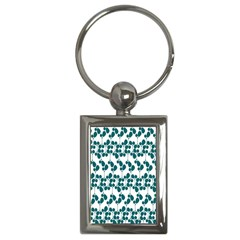 Flower Tree Blue Key Chains (Rectangle)