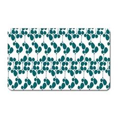 Flower Tree Blue Magnet (Rectangular)