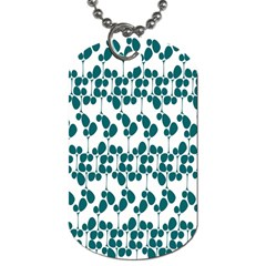 Flower Tree Blue Dog Tag (Two Sides)