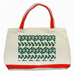 Flower Tree Blue Classic Tote Bag (Red)