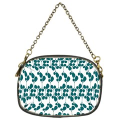 Flower Tree Blue Chain Purses (One Side)