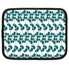 Flower Tree Blue Netbook Case (XL)