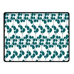 Flower Tree Blue Fleece Blanket (Small)