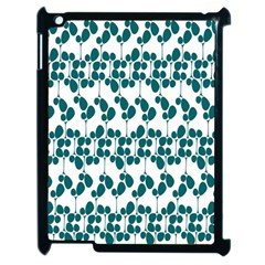 Flower Tree Blue Apple iPad 2 Case (Black)