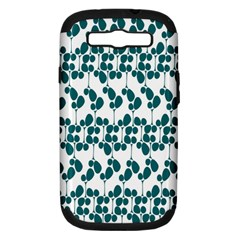 Flower Tree Blue Samsung Galaxy S III Hardshell Case (PC+Silicone)