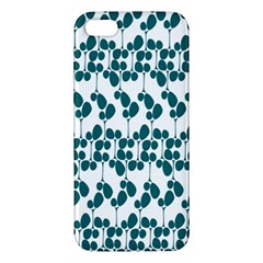 Flower Tree Blue Apple iPhone 5 Premium Hardshell Case