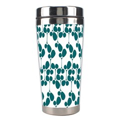 Flower Tree Blue Stainless Steel Travel Tumblers