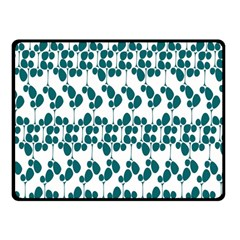 Flower Tree Blue Double Sided Fleece Blanket (Small)