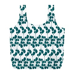 Flower Tree Blue Full Print Recycle Bags (L)