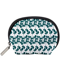 Flower Tree Blue Accessory Pouches (Small)
