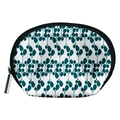 Flower Tree Blue Accessory Pouches (Medium)