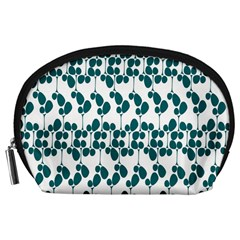 Flower Tree Blue Accessory Pouches (Large)
