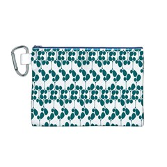 Flower Tree Blue Canvas Cosmetic Bag (M)