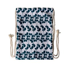 Flower Tree Blue Drawstring Bag (Small)