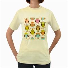Highres Owls Women s Yellow T-Shirt