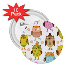 Highres Owls 2.25  Buttons (10 pack)