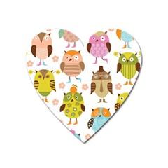 Highres Owls Heart Magnet