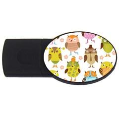 Highres Owls USB Flash Drive Oval (1 GB)