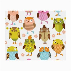 Highres Owls Small Glasses Cloth