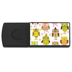 Highres Owls USB Flash Drive Rectangular (4 GB)