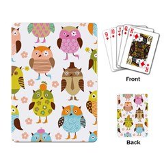 Highres Owls Playing Card
