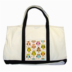 Highres Owls Two Tone Tote Bag