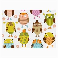 Highres Owls Large Glasses Cloth (2-Side)