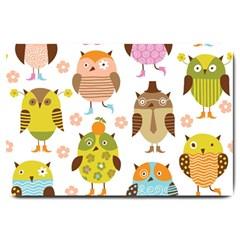 Highres Owls Large Doormat