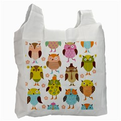 Highres Owls Recycle Bag (Two Side)