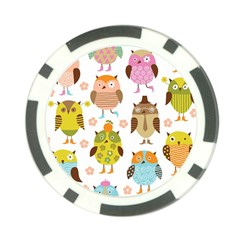 Highres Owls Poker Chip Card Guards (10 pack)
